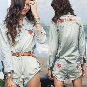 Spell & The Gypsy Route 66 Chambray Denim Romper